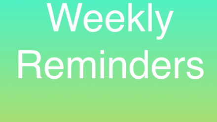 Weekly reminders icon