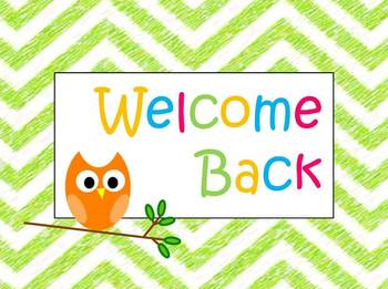 Image result for welcome back primary